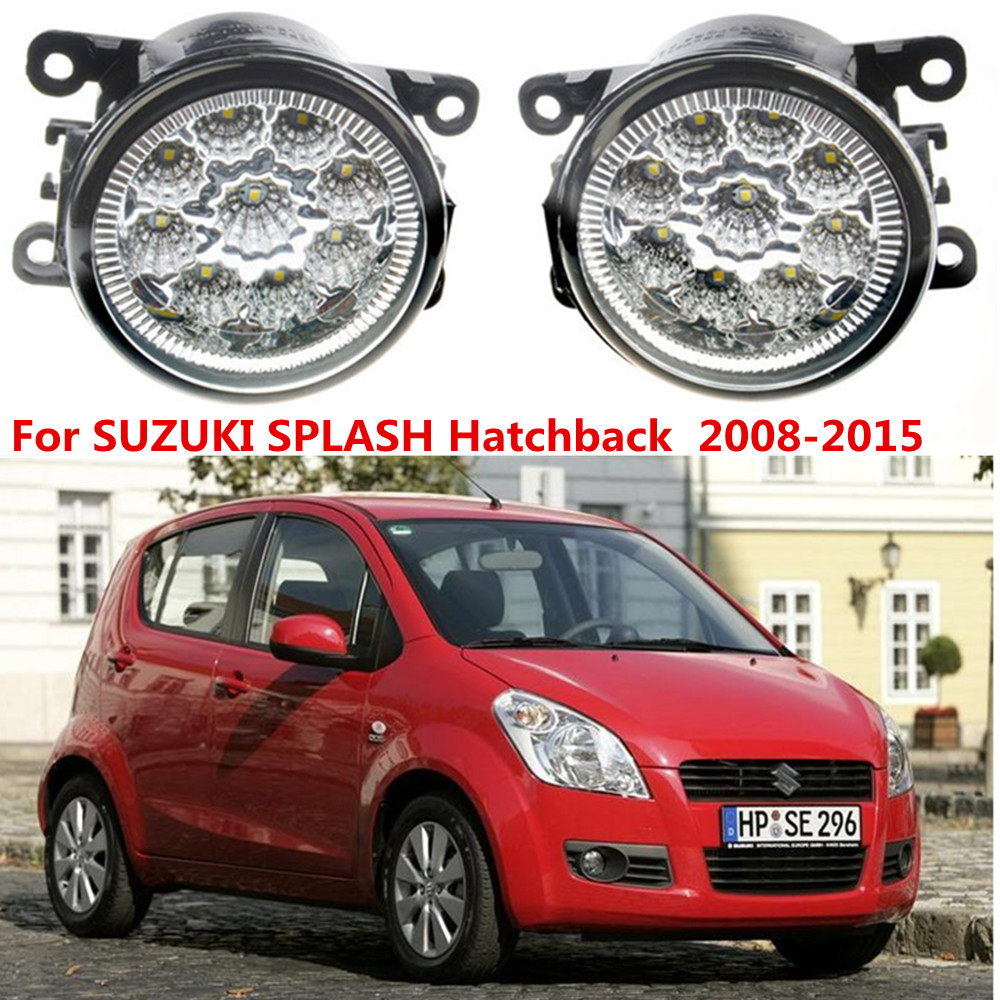 For SUZUKI SPLASH Hatchback  2008-2015 Car styling LED fog Lights high brightness fog lamps 1set for jaguar s type 1999 2008 led lamps fog light lights car styling 1 set