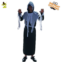 Scary ghost killer Halloween costumes Angel of Death cosplay for Adult Mens carnival Party shredded robe Role Play Clothes