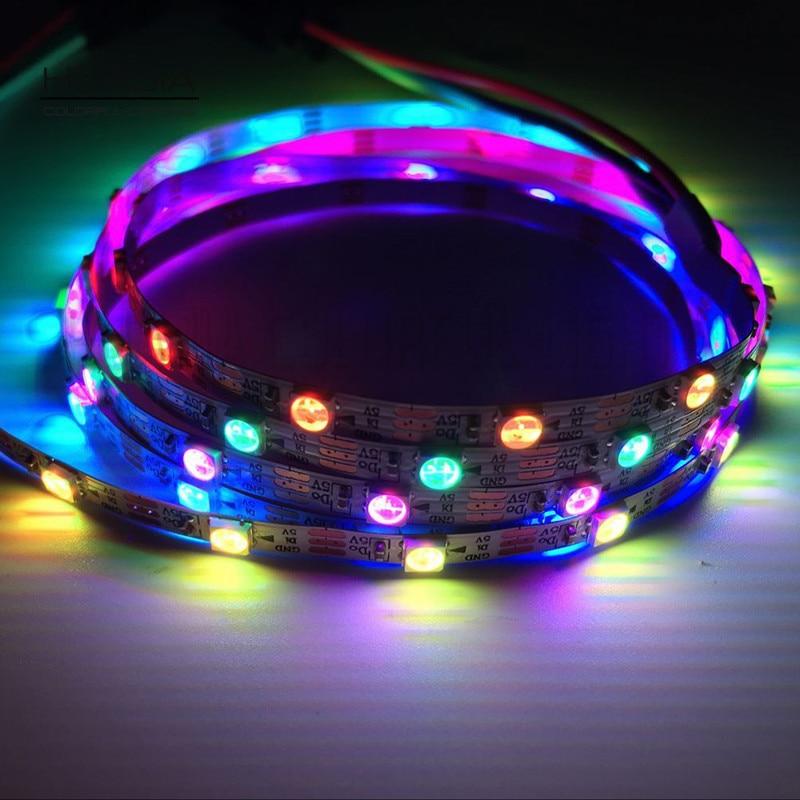 1M SK6812 60LED / m 5V Smd3535 keskeny LED egyedi programcsík 4MM - LED Világítás