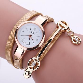 Luxury Brand Leather Quartz Watch Women Ladies Casual Fashion Bracelet Wrist Watch Wristwatches Clock