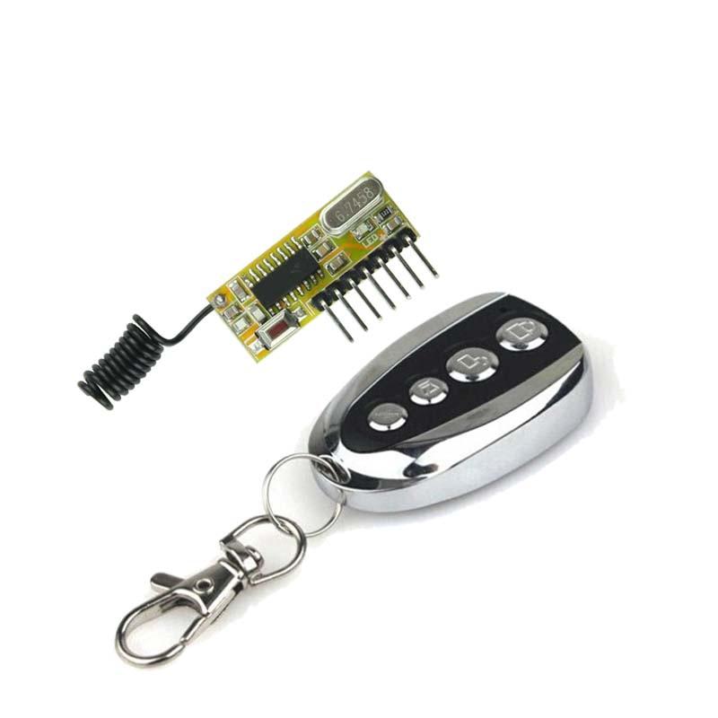Super Heterodyne 5V DC 4CH RF Receiver Transmitter Module Output DC5V 4CH high Level TTL Transceiver Module Relay driver Module
