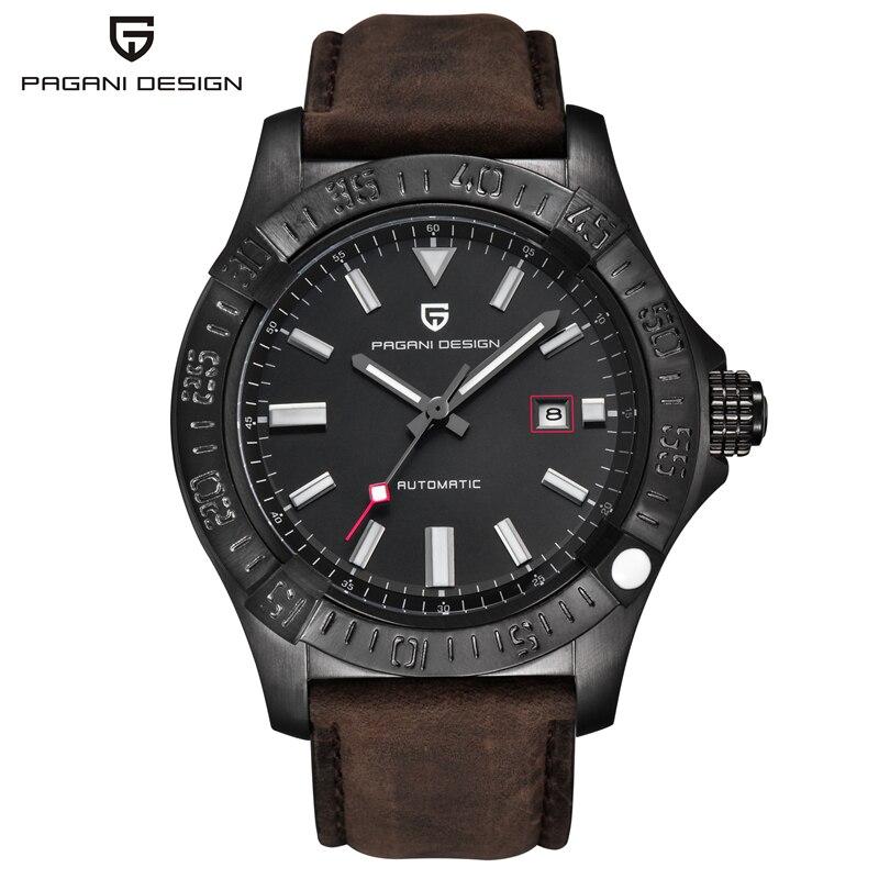Relogio Masculino Luxury Brand Watch Mens Waterproof Leather Military Army Mechanical Watches Clock Men Hours 2019 Reloj Hombre lige horloge 2017