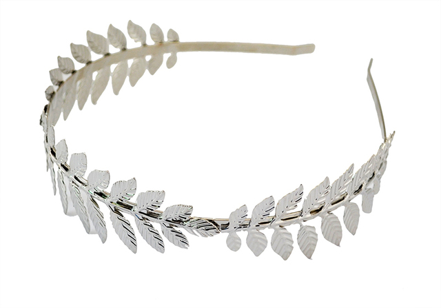 Baroque Style Gold Silver Metal Leaves Hairband headdress wedding hair accessories