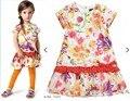 Nuevos vestidos Del Bebé Niñas catimini fish Vestido Sólido Puro algodón correa de la raya de la princesa dresse ropa de Diseño al por mayor