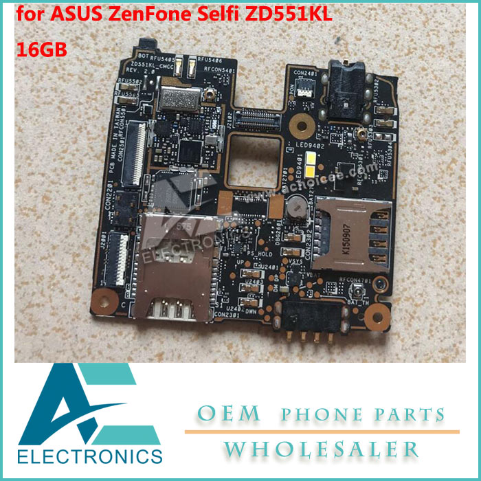 US $75 0 |16GB for ASUS ZenFone Selfi ZOOUD ZD551KL Motherboard Mainboard  Logic Board Circuits Keypads-in Mobile Phone Keypads from Cellphones &