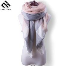 za plaid women scarf warm winter scarf for women's blanket shawls soft cashmere scarf scarves large luxury