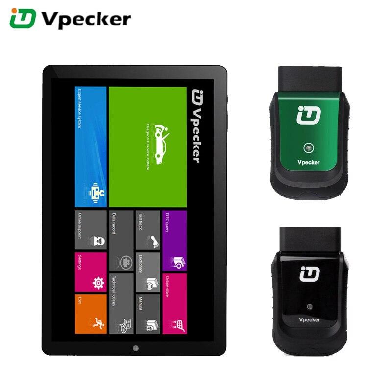 VPECKER Easydiag V10.6 WiFi Professionnel OBD2 Automobile Scanner De Diagnostic Outil Tablet ABS SRS Réinitialiser Huile DPF en Arabe Mise À Jour