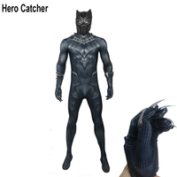 Hero Catcher Top Quality Black Panther Cosplay Costume With Accessory