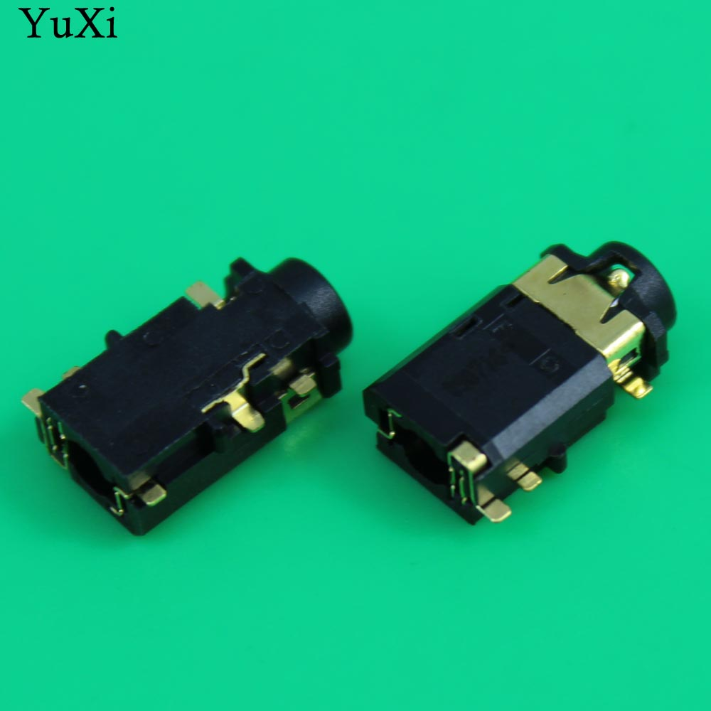 YuXi 6 Pins Mic Socket,Audio Jack, 3.5mm Headphone Port For Lenovo Dell Etc Notebook Audio Connector