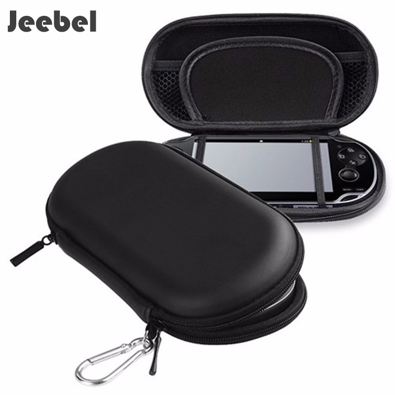 цена Jeebel For PSP 3000 Case Hrader EVA Bag Protective Storage Case Cover Holder Funda Game Console For PSP 1000 2000 3000 PSV Case