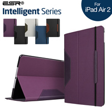 Case for Air 2 / iPad 6, ESR Intelligent Series Folio Case with Leather Stand Smart Cover Case for 9.7 inch Air 2 / iPad 6