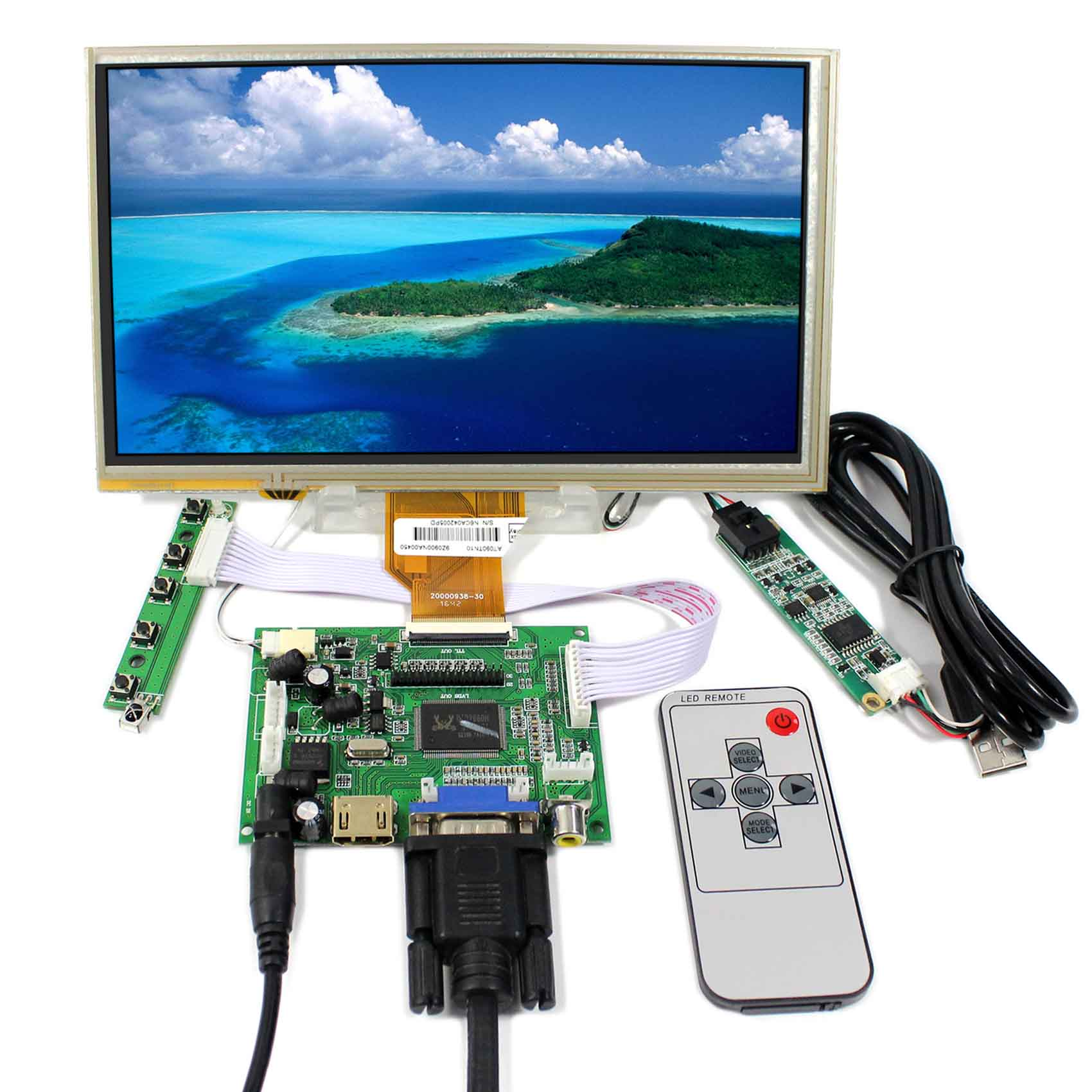 HDMI VGA 2AV LCD Controller Board+9 AT090TN10 AT090TN12 800x480 LCD Screen With Touch Panel aneng pressure transmitter pressure transducer sensor 0 10bar 9 32vdc g1 4 4 20ma 0 5