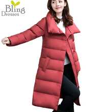 2016 Snow Winter Jackets 90% White Duck Down Warm Parkers Women's Long Section Bread Style Large Size Down Overcoat