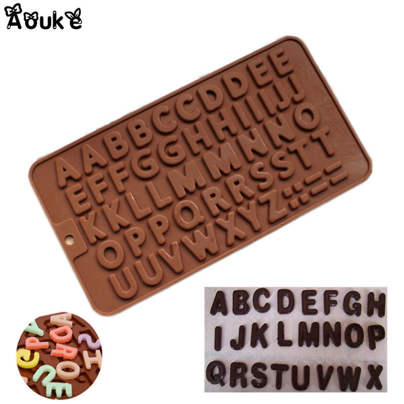 Bakeware Kitchen,dining & Bar Aomily English Letter Shaped Chocolate Cake Sugar Silicone Mould Candy Ice Mini Cube Tray Kitchen Baking Pastry Tools 21*11.5cm