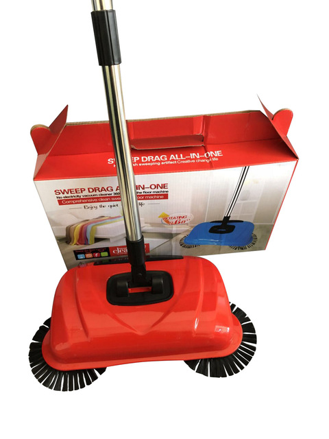 Stainless Steel Sweeping Machine Push Type Hand Push Magic Broom Dustpan Handle Household Cleaning Package Hand Sweeper mop Push