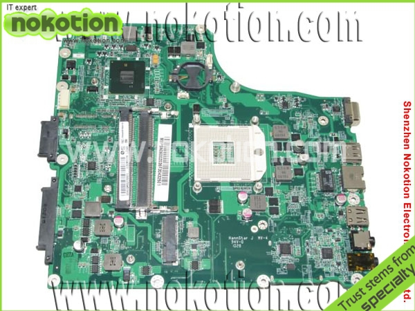 NOKOTION Laptop Motherboard for Acer 4820 MBPSN06002 DAZQ1BMB6C0 Intel HM55 integrated DDR3 RAM Mainboard nokotion laptop motherboard for acer 5742 nv55c la 6582p intel hm55 integrated gma hd ddr3 mainboard