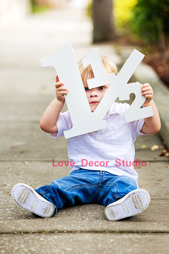 18 Month Old Toddler Photo Prop 9 9inch 1 1/2 for 18 Month Photo Shoot Photography Props - Large Wooden Number Sign