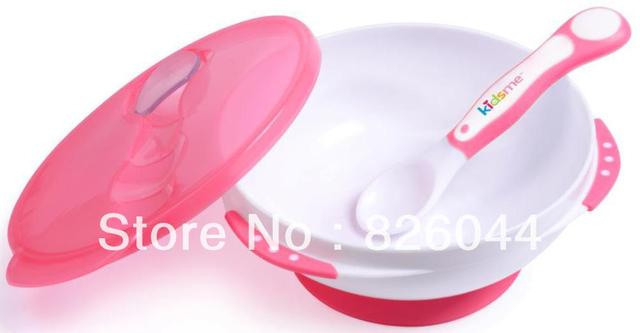 Lovely Baby Infant Wall suction Bowl Feeding Bowl Blue&Pink