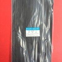 100 шт./упак. 8*400 8x400 Высокое качество ширина 7,6 мм черный Цвет самоблокирующимся Пластик нейлон кабель галстуки, провод стяжку