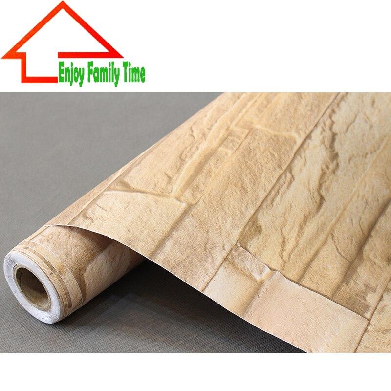 3d embossed brick pattern self adhesive pvc wallpaper for Room decor 3d self adhesive wallpaper