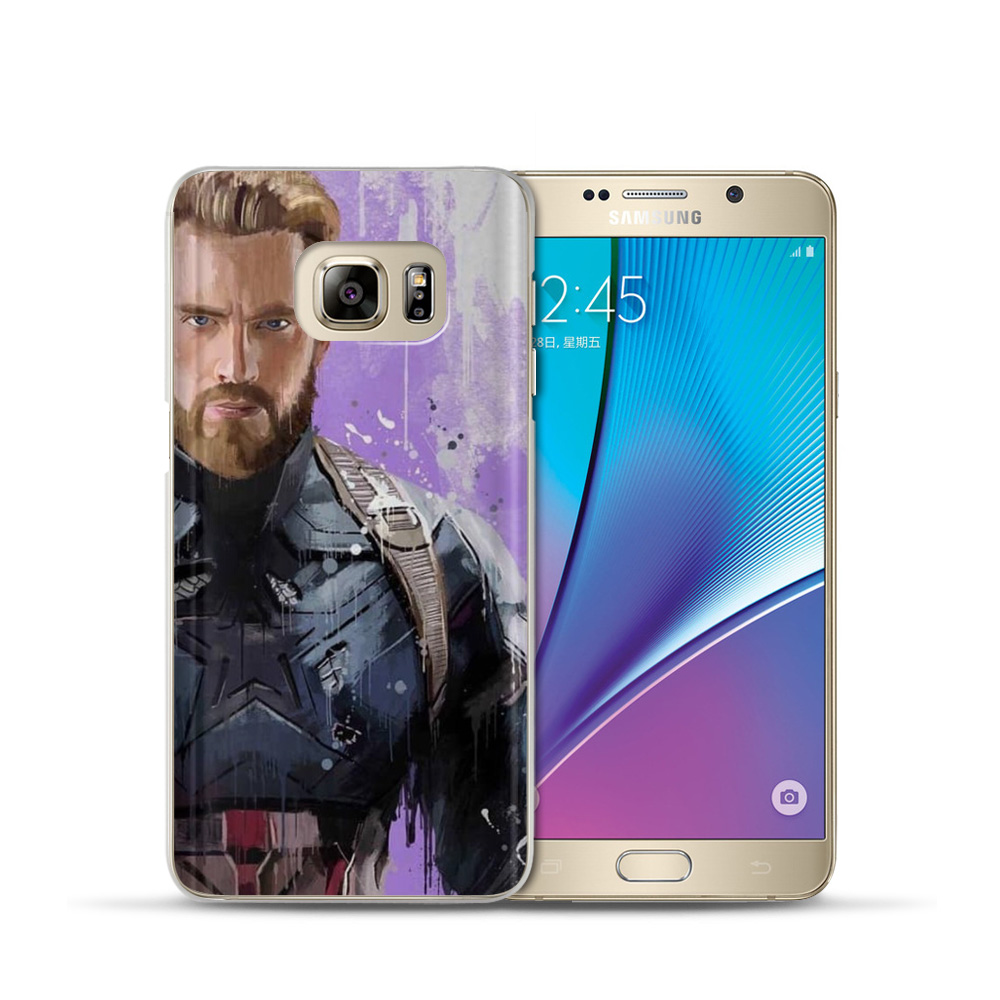 VIYISI For Samsung Galaxy J3 J5 J7 A5 A3 2017 2016 2015 For Prime S6 S7 Edge S8 S9 Plus Marvel Heroes Phone Case Coque Cover in Fitted Cases from Cellphones Telecommunications