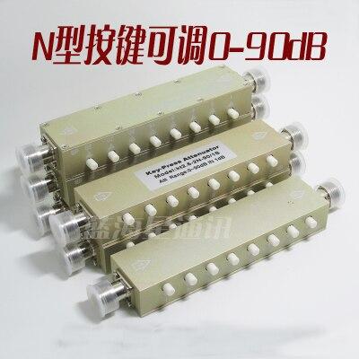N Type RF Attenuator 0-90dB 60Db Adjustable Attenuator /30dB