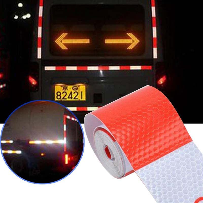 "Safety Warning Reflective Tape Silver 40/"" Trailer Mailbox Glass Caution Stickers"