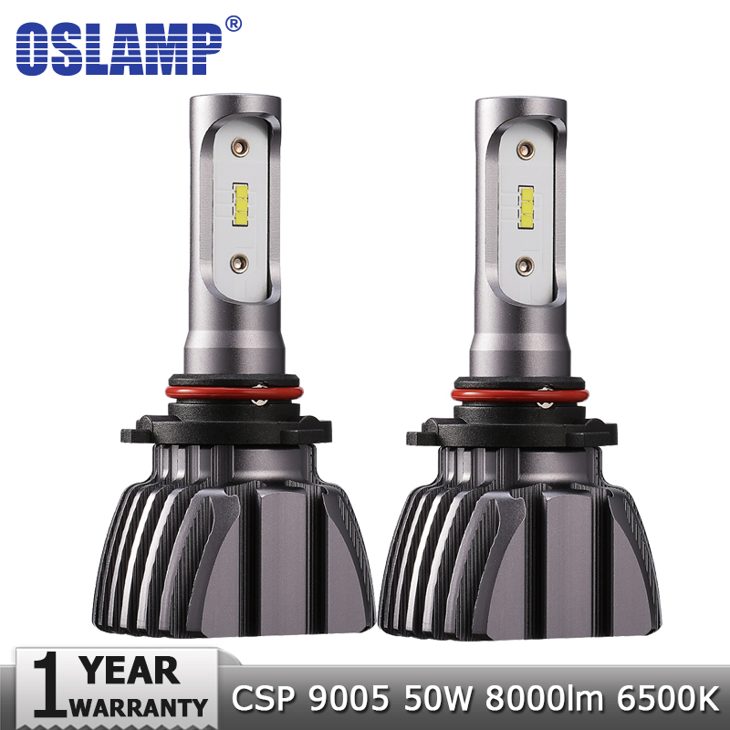Oslamp 9005 Car LED Headlight Bulbs HB3 50W 8000lm 6500K Auto Led Headlamp Led Light Bulb CSP Chips Led Headlights Lamp 12v 24v eglo подвесной светильник eglo razoni 92251