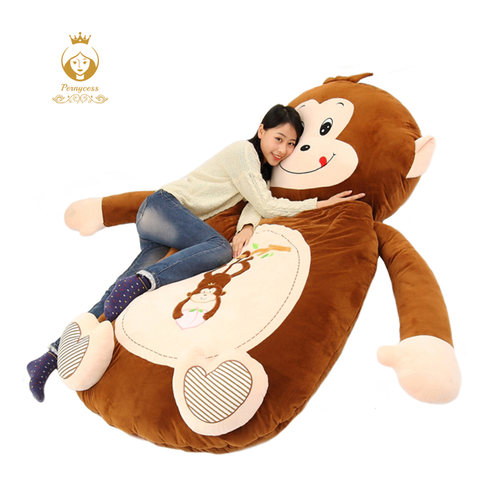 Giant Cartoon animal bear monkey plush toy lazy sofa tatami mattress sleeping bag removable floor bed funny birthday gift