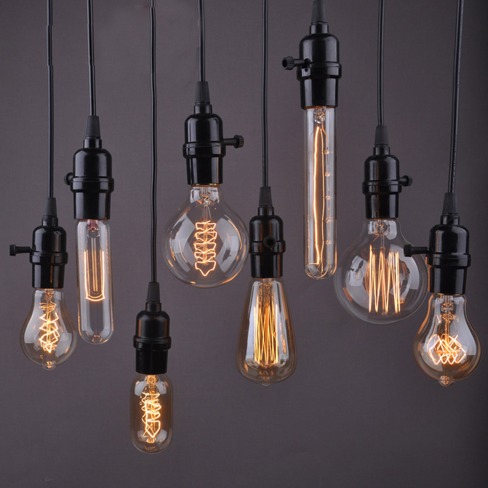 1PC Pendant Wire Personality Edison Lamp Bar Counter Aisle Lights ...