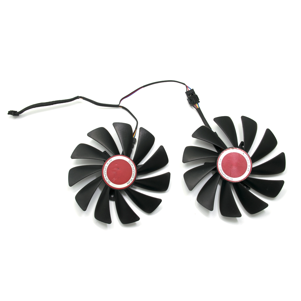 95mm CF1010U12S FDC10U12S9-C 4pin XFX HIS RX580 GPU <font><b>Cooler</b></font> fan Replace for XFX RX570 RX580 RX560D RX 580 8G RX <font><b>Vega</b></font> <font><b>56</b></font> image