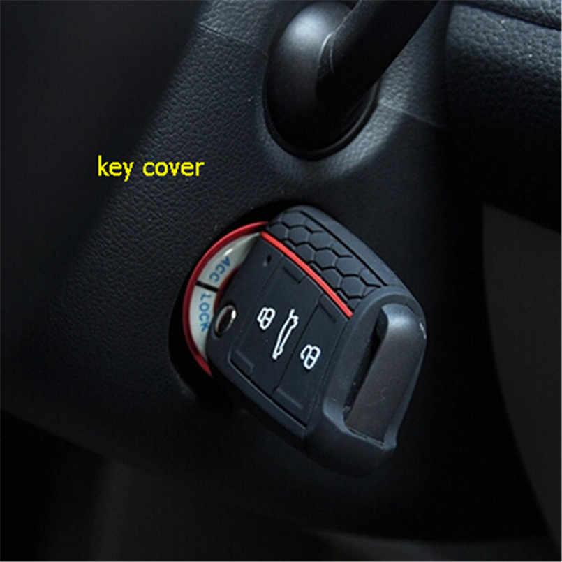 Kiểu Dáng Xe Phụ Kiện Chìa Khóa Chìa Khóa Silicone Portect Dành Cho Xe Volkswagen Golf 7 MK7 R20 GTI MK7/Cho Skoda octavia A7