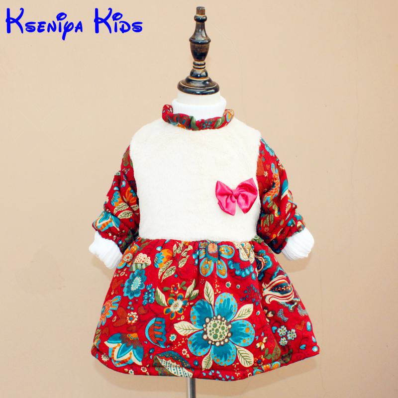 Olike 2015 new autumn winter dress girl kids lolita autumn girl dress long sleeve girls puff sleeve dress baby dresses party юбка 2015 lolita
