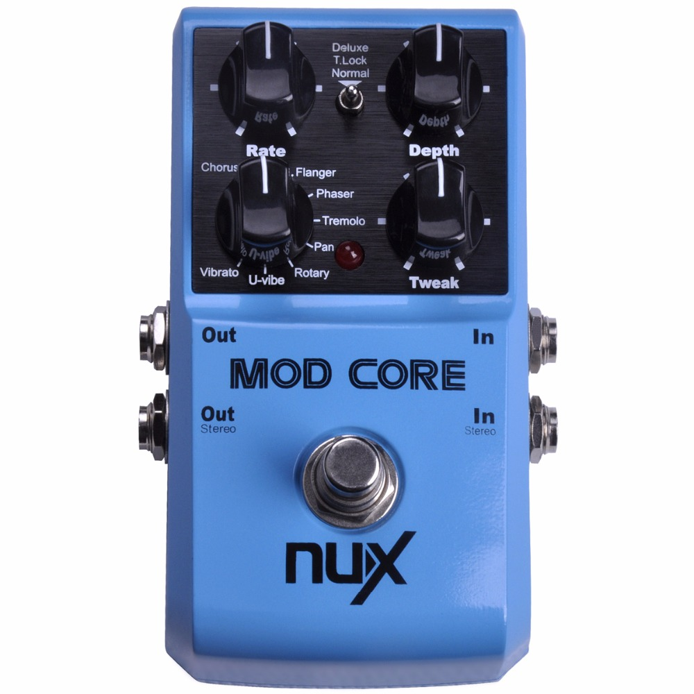 nux mod core guitar effect pedal 8 modulation effects chorus flanger phaser rotary pan u vibe. Black Bedroom Furniture Sets. Home Design Ideas