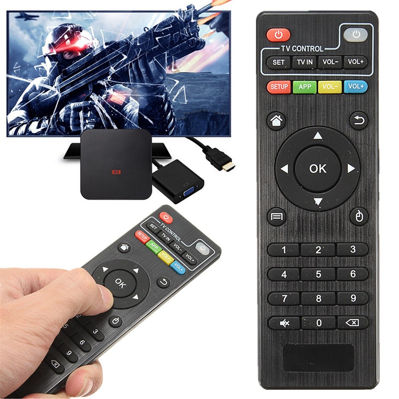 For Set Top <font><b>Box</b></font> Universal Remote Control Replacement Controle remoto for H96 <font><b>Pro</b></font> T95M T95N <font><b>MXQ</b></font> MX <font><b>Pro</b></font> <font><b>4K</b></font> Android <font><b>TV</b></font> <font><b>Box</b></font> UK image