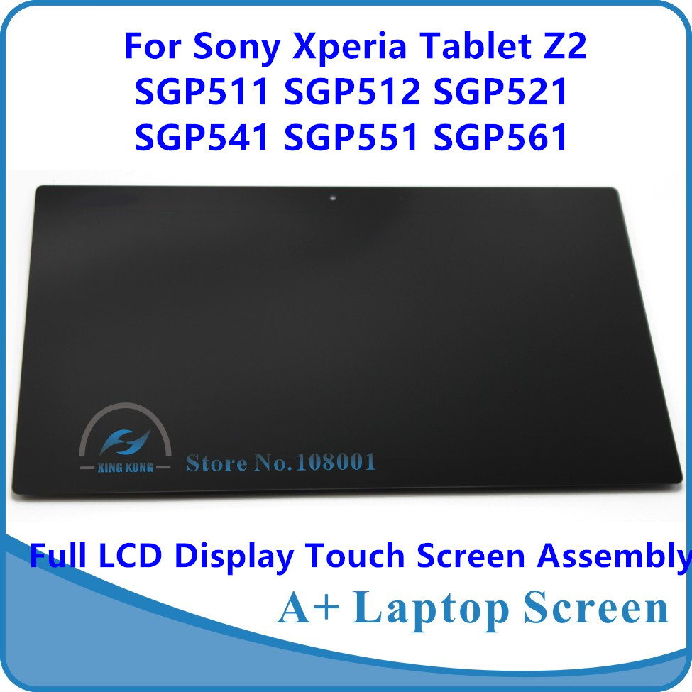 10.1 For Sony Xperia Tablet Z2 SGP511 SGP512 SGP521 SGP541 SGP551 SGP561 Full LCD Display Panel Touch Screen Digitizer Assembly camicettasnob топ без рукавов