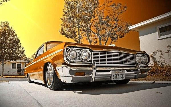 c5828f4311024 1964 carro Lowrider Impala Conversível retro esportes do vintage sala de  estar da tela moldura de madeira casa decoração arte da parede poster HC057