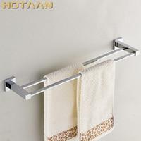 Barato Envío gratis (24 , 60 cm) toallero doble/toallero, hecho en acero inoxidable, acabado cromado, accesorios de baño, accesorios de baño