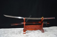 Genuine Japanese Samurai Combat Katana Real Sword Home Decor Carbon Steel Hand Forged Sharp Blade Custom Katanas Battle Ready