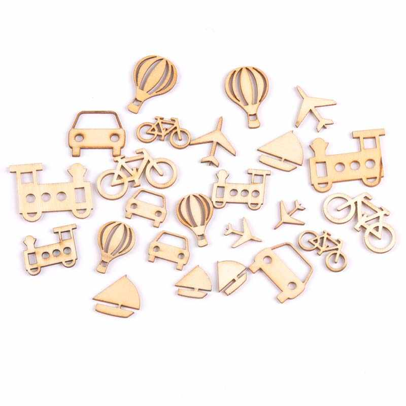 24Pcs mixed Mini vehicle natural Wooden Scrapbooking Craft for  Embellishments Handmade Diy Accessory Decor 10- c1d1a7edb878