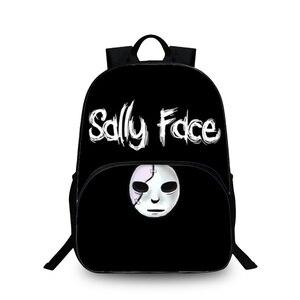 Pop jogo sally rosto diário mochila adolescentes moda sacos de escola crianças portátil mochila crianças sacos de livro de viagem ocasional