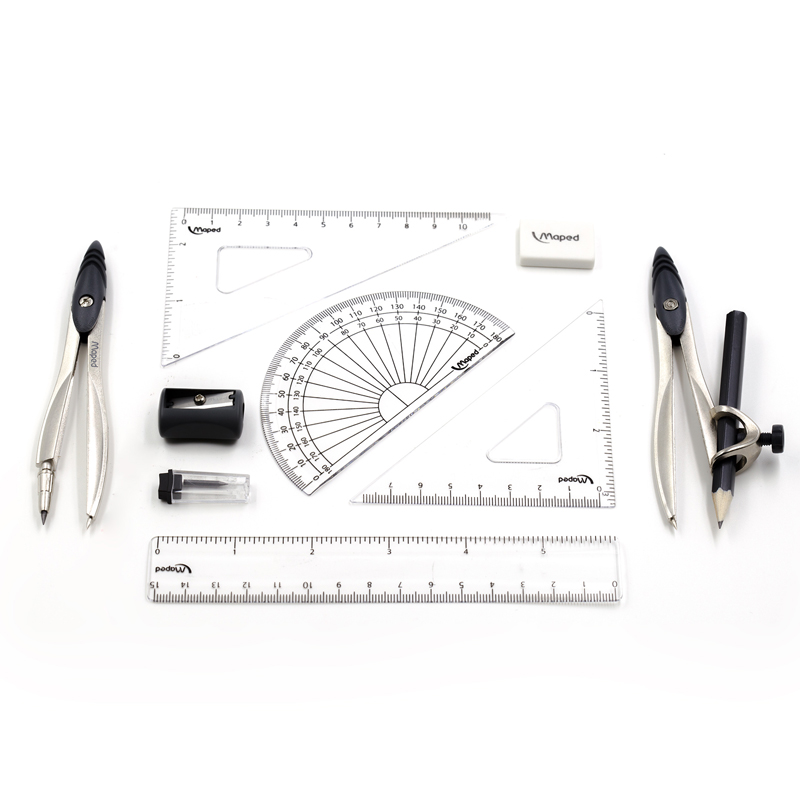 Compass Set for Student with Divider, Set Squares, Ruler, Protractor Total 10 Pieces(Included Box)  Drawing Math Geometry Set fundamentals of physics extended 9th edition international student version with wileyplus set