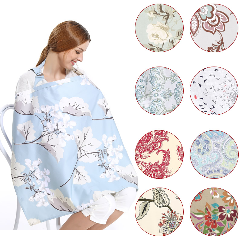 Breastfeeding Cover nursing cloth 70 100CM Breathable Cotton baby infant breast feeding privacy cover big size