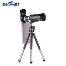 Universal 20X Zoom Telescope Lens Mobile Phone Telephoto Lens Clip External Phone Camera Lens for iPhone Sumsung With Tripod