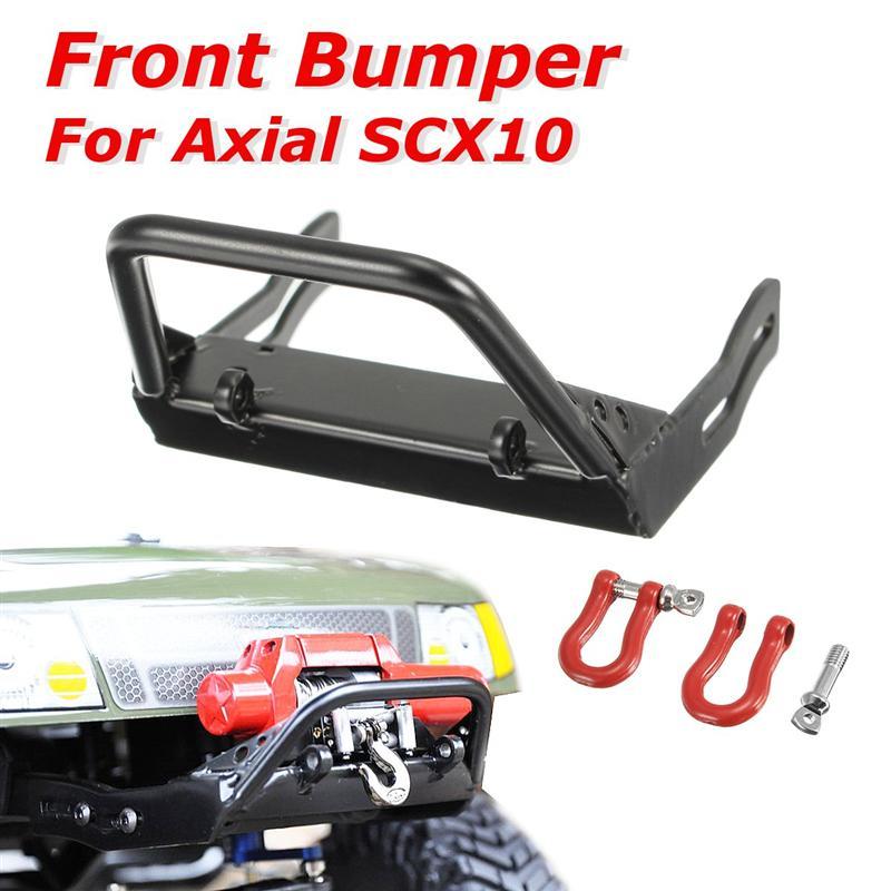 Yeah Racing YA-0455 Stubby Steel Bumper w// Winch Mount /& Shackles Axial SCX10