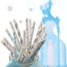 25 Pieces Paper Polka Dot Party Straws