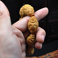 Big seed Eight boy Maitreya Olive Nut Seed Carved Hand Carved worry beads charm bracelet Tibetan Buddhism