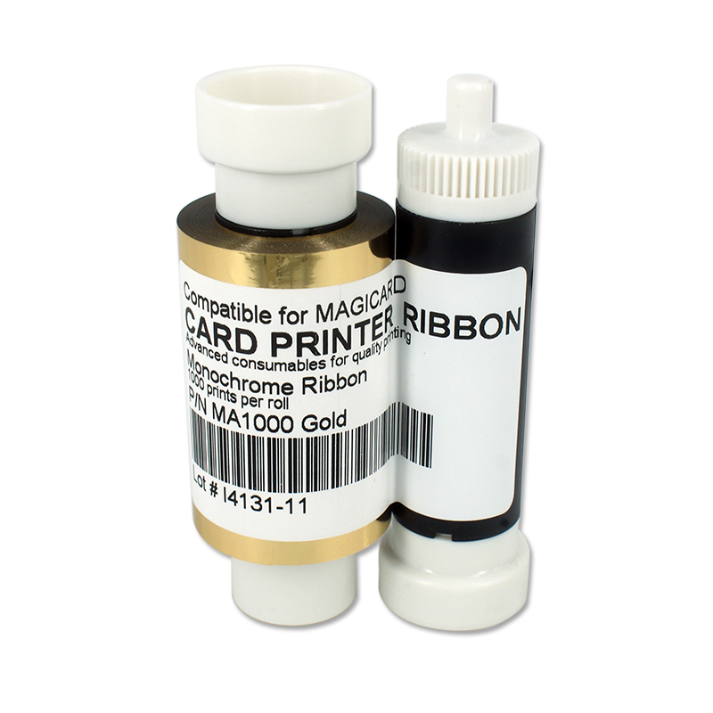 SEEBZ Printer 1000 prints Gold Ribbon For Magicard Pronto Enduro3E Rio Pro Compatible For Magicard MA1000K Card Printer Ribbon original printer ribbon 800012 445 625 prints roll ymck ribbon for zebra 800012 445 for zxp series 8 zxp8 card printer