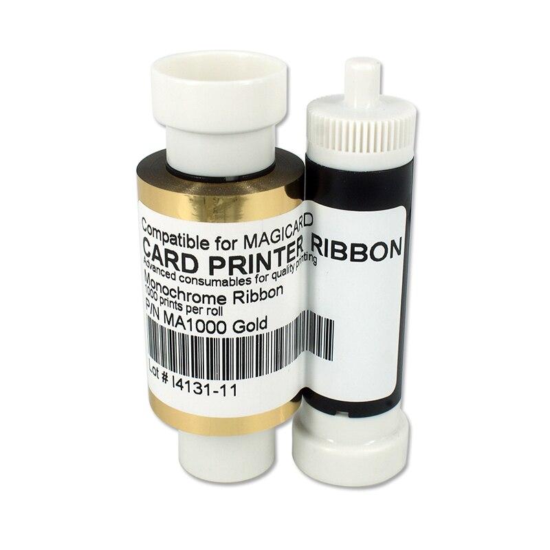 SEEBZ Printer 1000 prints Gold Ribbon For Magicard Pronto Enduro3E Rio Pro Compatible For Magicard MA1000K Card Printer Ribbon стоимость