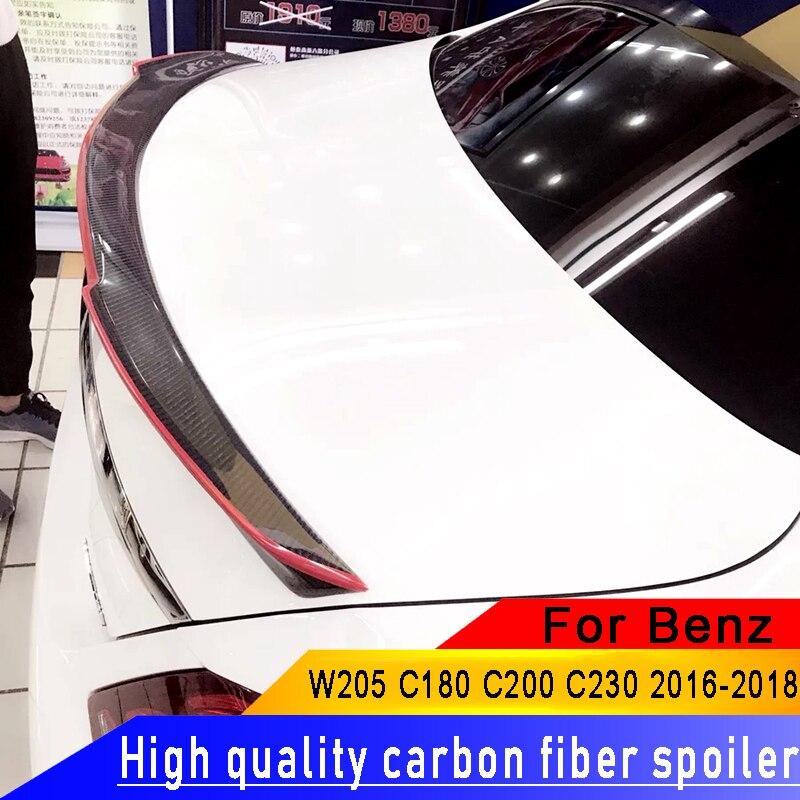 For W205 Carbon Fiber Spoiler 2015 Spoiler Car Rear Wing Carbon Fiber Rear Spoiler For Benz W205 C180 C200 C260 C280 C300 C63|Spoilers & Wings| |  - title=
